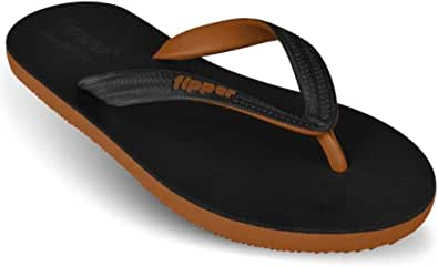 fipper Men's Black Series Rubber Thongs