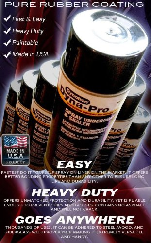 3M Dyna-Pro 707 Seal Flex Spray Liquid Rubber Sealant, 18 oz Can, Black (Rubber Undercoating)