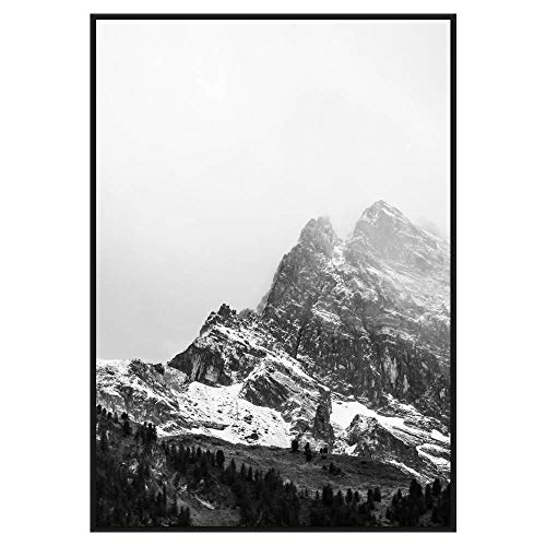 (Frame It Easy 21 1/2 x 30 Satin Black Metal Frame Profile #93)