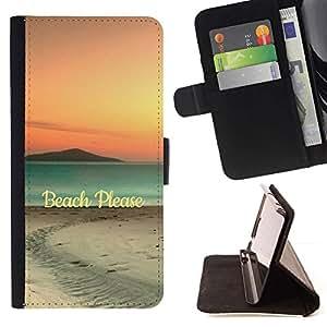 Momo Phone Case / Flip Funda de Cuero Case Cover - Cita colores en colores pastel Arena Ver Naturaleza - Samsung Galaxy S6 Active G890A