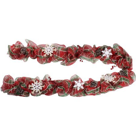 Holiday Time Plaid Lighted Garland, 9' Christmas Tinsel Garland Wholesale