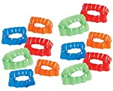 Kicko Bright Color Vampire Teeth Plastic - Pack of 12-2.5 X 1.75 Inches - Assorted Colors - Fun Cool Fangs Halloween, Cinco de Mayo - for Kids and Adults, Party Favors, Fun, Toy, Prize Larger Image