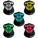 Breathable Seamless Tube Skull Face Mask, Dust-proof Windproof Motorcycle Bicycle Bike Face Mask for Cycling Hiking Camping Climbing Fishing Hunting Motorcycling (5 Pcs-Set A)