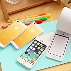 Mustwell White Fashion Sticky Post It Note Paper Cell Phone 1:1 Shaped Memo Pad Memo Pads Paper Note Pad Diy iPhone 5s