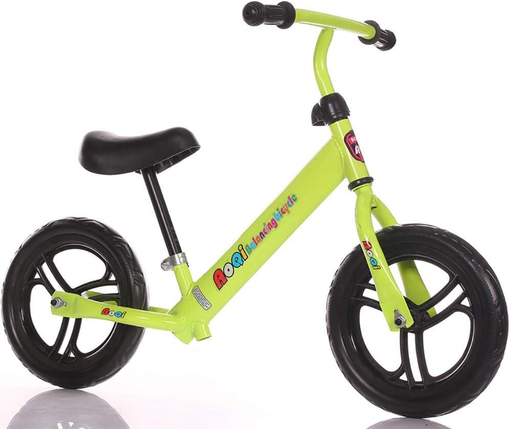 ZXDBK Bicicleta de Equilibrio, 2 3 4 5 6 Años Niños Niñas Aleación de Aluminio Carreras Versátiles, Asiento Ajustable 12