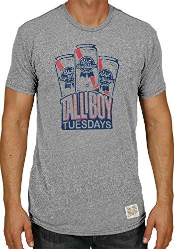Pabst Blue Ribbon Brewing Company Retro Brand Tall Boy Tuesdays T-Shirt (L) (Strohs Beer Shirt)