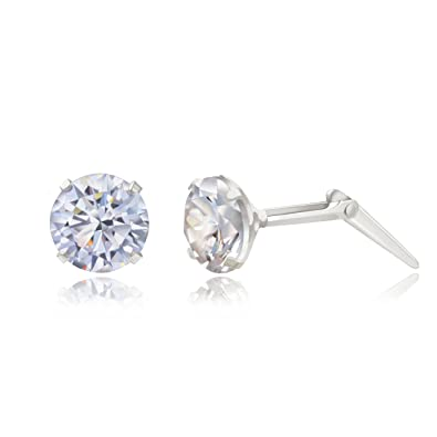 Sterling silver 5mm star Andralok stud earrings / Gift box Ux8Mehd