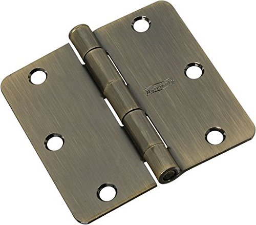 NATIONAL MFG/SPECTRUM BRANDS HHI N830-330 Door Hinge, 3.5-Inch, Antique Brass, 3-Pack ()