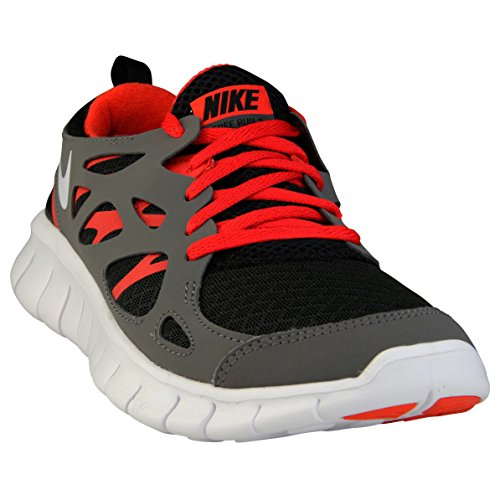 Nike Nike Free Run 2 Gs - Zapatos  para hombre Black White Dark Grey Lite Crimson