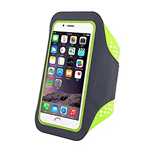 Teammao Phone Sports Armband,Waterproof Running Exercise Armband With Case Holder & Key Holder for IPhone 7 7 Plus 6 6 Plus Samsung Galaxy S6 S7 and Other 5.5-inch Smartphones.