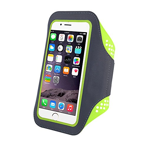 Price comparison product image Teammao Phone Sports Armband, Waterproof Running Exercise Armband With Case Holder & Key Holder for IPhone 7 7 Plus 6 6 Plus Samsung Galaxy S6 S7 and Other 5.5-inch Smartphones.
