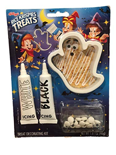 Rice Krispies Treats Halloween Treat Decorating Crafty Kits (Ghost Shape - White & Black Icing)
