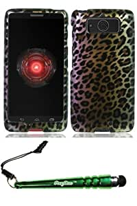 Motorola XT1030 Droid Mini Brown Leopard Case Cover Protector Include FoxyCase Stylus cas couverture