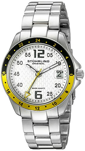 Stuhrling Original Women's 290.12212 Aquadiver Regatta Galleon Swiss Quartz Date Stainless Steel Bracelet Watch