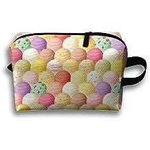 Too Suffering Ice Cream Decor Queen Circular Shapes Ice Cream Travel Bag Multifunction Portable Toiletry Bag Organizer Storage