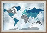 Gift for teenagers, Push Pin World map, 20X30 Inches, Push Pin Travel, Paper Gift, Gift for Mom dad