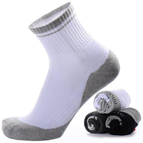 Men's Compression Athletic Socks White