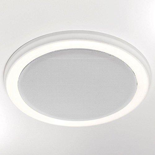 HOMEWERKS WORLDWIDE 7130-02-BT Bluetooth Bath Fan & Speaker with LED Light and Blue Nightlight (Bluetooth Vent)