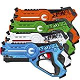 Best Choice Products Kids Interactive Infrared Blaster Laser Tag Toy Set w/ Multiplayer Mode, 4 Pack - Multicolor