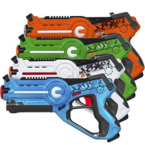 Best Choice Products Kids Interactive Blaster Tag Set w/ Multiplayer Mode, 4 (Laser Battle Set)