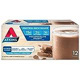 Atkins Gluten Free Protein-Rich Shake, Milk Chocolate Delight, Keto-Friendly, 12 Count