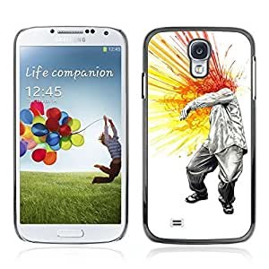Colorful Printed Hard Protective Back Case Cover Shell Skin for Samsung Galaxy S4 IV (I9500 / I9505 / I9505G) / SGH-i337 ( Cool Head Explosion Painting )