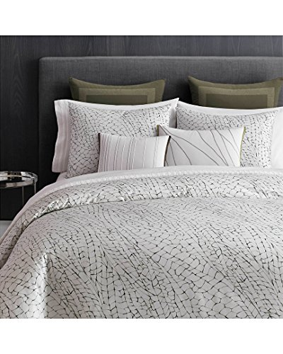 Vera Wang Dragonfly Wing White Duvet Collection, (Dragonflies Bedding Collection)