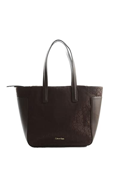 Logo Calvin Marron Klein A Sac Small Tote Amazon Main Nina Femme rdrq6wzY