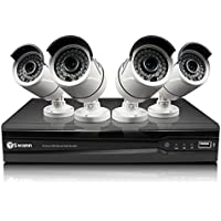 Swann 8 Channel 3MP HD IP NVR Security System with 4 3MP Cameras, 2TB HDD, and 100 Night Vision (SWNVK-873004)