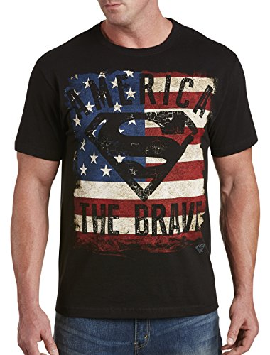 True Nation by DXL Big and Tall Superman America The Brave Graphic Tee - Brave Short Sleeve Tee