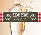 100 LABELS PER ORDER Custom Wedding Anniversary Engagement Party Water Bottle labels Bridal Shower Birthday Burlap Rustic Wood I Do BBQ 50th 25th Anniversary Thanks Thank you