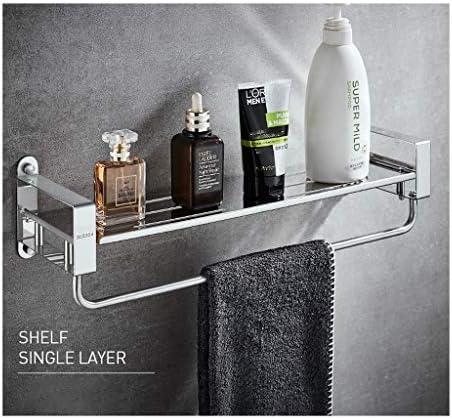 浴室のタオル掛け、二重層、304ステンレススチール、タオル掛け、トイレのペンダント、浴室用ラック、パンチフリー、パンチ (Size : 400mm)