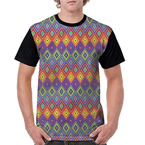 Baseball T-Shirt Summer,Trippy,Hippie Vibrant Retro S-XXL Summer Custom Tees for Girls