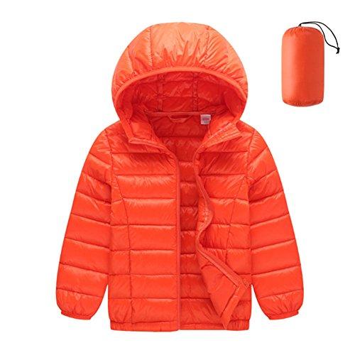 Anatra Cappuccio Arancione Meijunter Piumino Bambini Caldo Tuta Ragazzi Capospalla Antivento Ragazze Cappotto Con Bt7Ztq