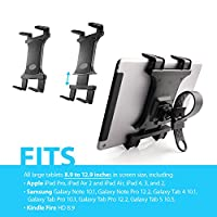 Premium Zip-grip Universal Bicycle, Treadmill, Exercise Bike Mount Holder for Apple ipad Mini, iPad 2, iPad 3, ipad Air and all 7-12 Inch Tablets (use with or without Case)