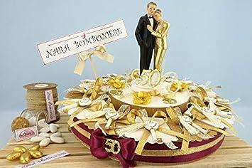 Anniversario Di Matrimonio 51 Anni.Bomboniere Nozze Oro Torta Bomboniere Nozze Oro Di 12 Calamite