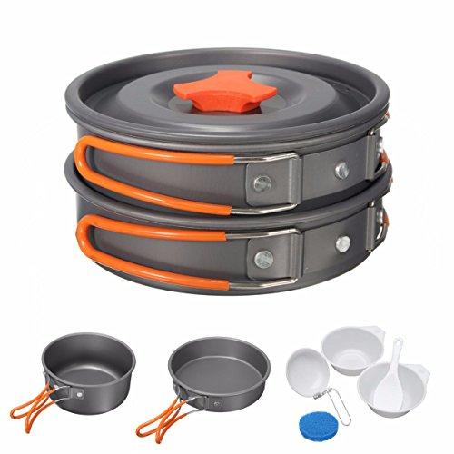 camping aluminum pot bowl portable