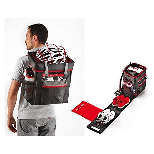 Fahrrad Tasche Elite Triathlon Box schwarz/rot, für Triathlon/Duathlon