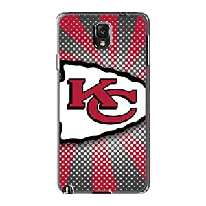 MarcClements Samsung Galaxy Note 3 Shockproof Cell-phone Hard Cover Unique Design Trendy Kansas City Chiefs Image [HpE4998TLMS]