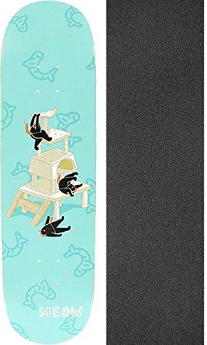 絶えず汚い些細Meow Skateboards Meowntain Tealスケートボードデッキ – 8