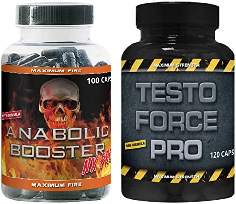 Anabolic Pre Workout Booster Nx Pro und Testo Force Booster by VargPower 220 Power Kapseln