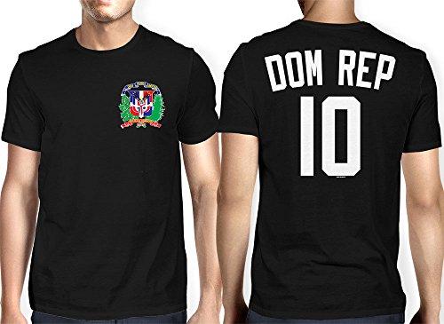 Mens Dominican Republic   Soccer  Football T Shirt  Xl  Black