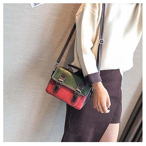 Vintage Main à Sac Red Mat Sac Mode à Womens Sac Bandoulière Bandoulière BAILIANG P0q6w6
