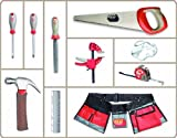 Red Tool Box 10 Pieces Toolset