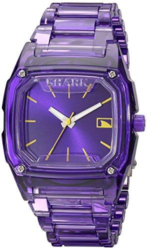 - Freestyle Women's 101989 Shark Purple Polycarbonate Watch with Link Bracelet