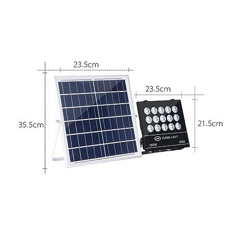 Proyector LED solar con mando a distancia, luz de seguridad ...
