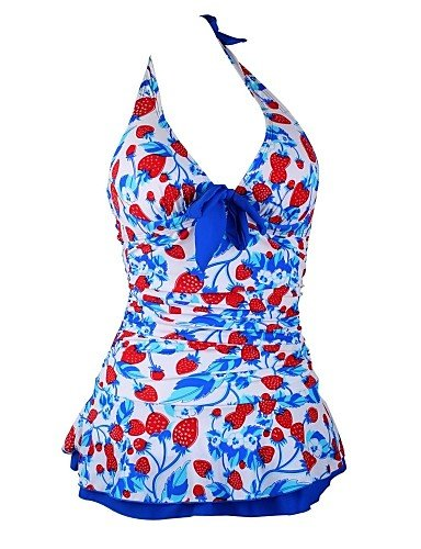 skt-swimwear Frau Strawberry Halfter gepolstert Bademode Schwangerschaftsbadeanzug Tankini Top mit angesetztem unten