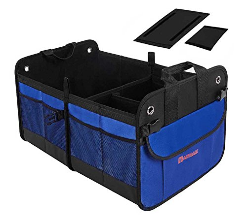 Autoark Multipurpose Car SUV Trunk Organizer,Durable Collapsible Cargo Storage,Waterproof Bottom With Velcro Strips to Prevent Sliding,AK-022 (Trunk Basket)