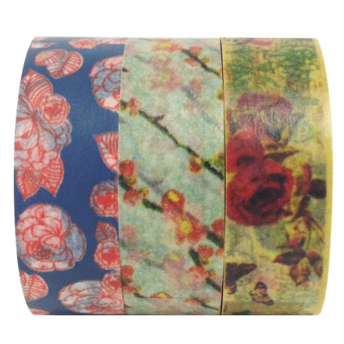 Allydrew Vintage Memories Japanese Washi Masking Tape (set of 3), 10M L x 15mm W