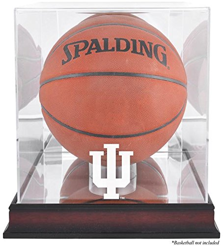 Indiana Hoosiers Basketball Display Case | Details: Mahogany Base, Antique Finish, with Mirror Back